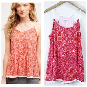 NWT Anthro l Meadow Rue Nuria Swing Tank Top LG